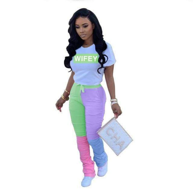 Epicplacess TRACKSUIT neon green / M / United States Heavenly Dreams Tracksuit  -Letter Print
