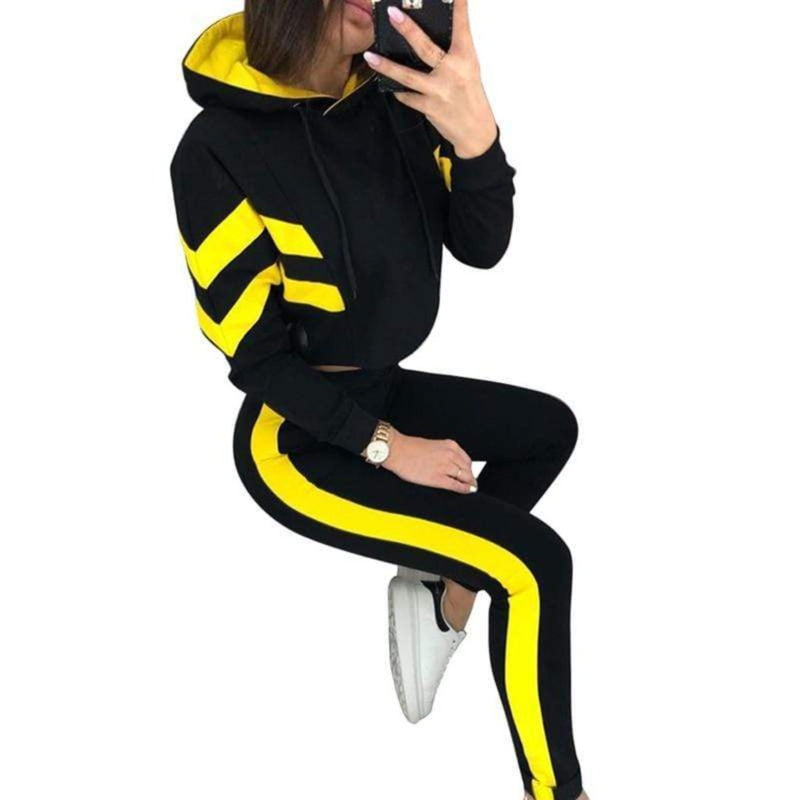 Epicplacess tracksuit yellow / S / United States A Badie Hooded Tracksuit