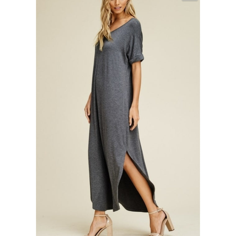 Dark grey maxi dress