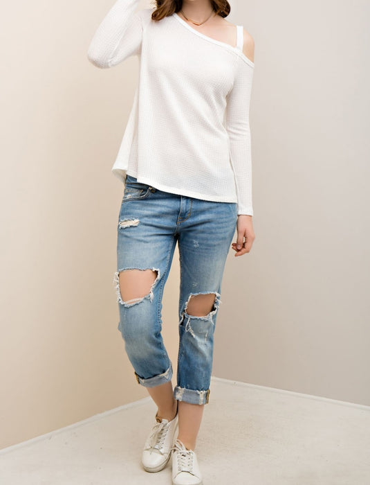 Thermal Off Shoulder Sweater