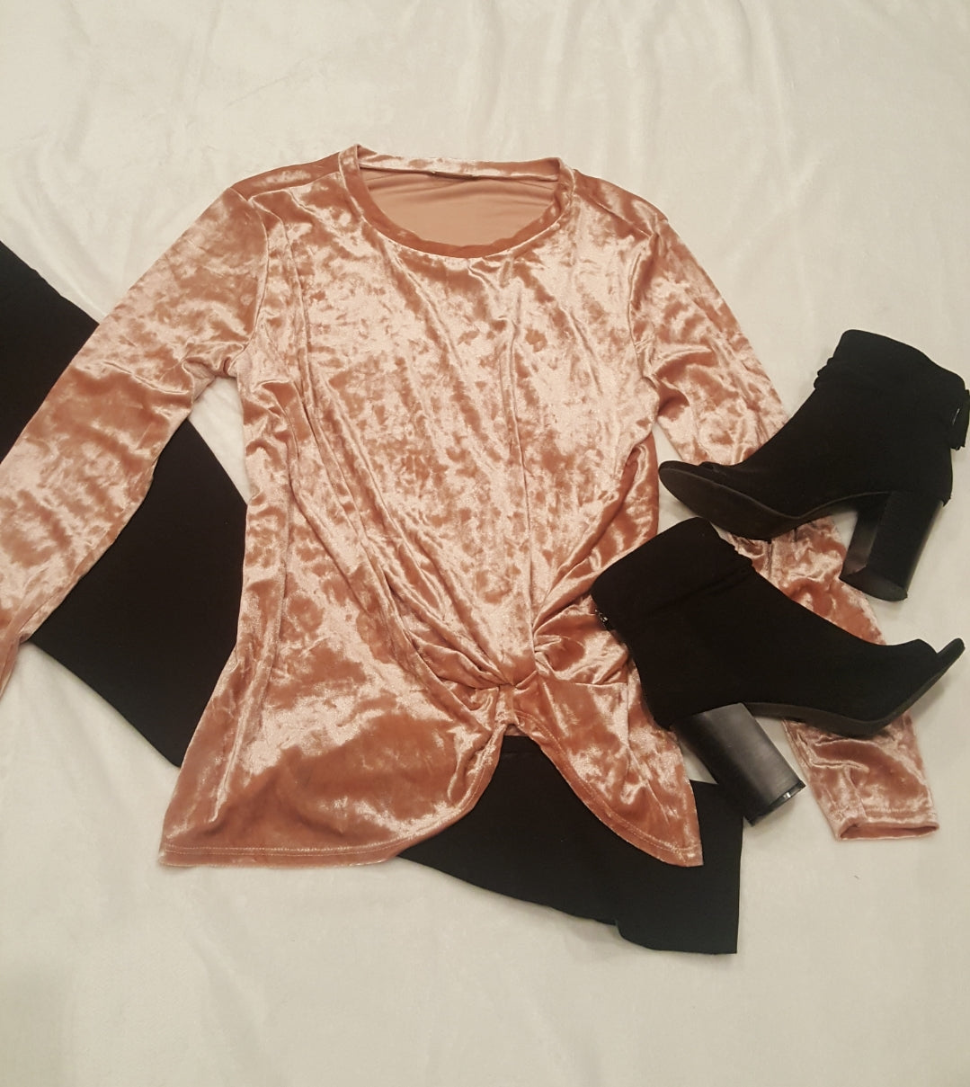 Crushed velvet top