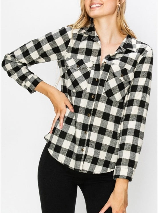 Black flannel shirt