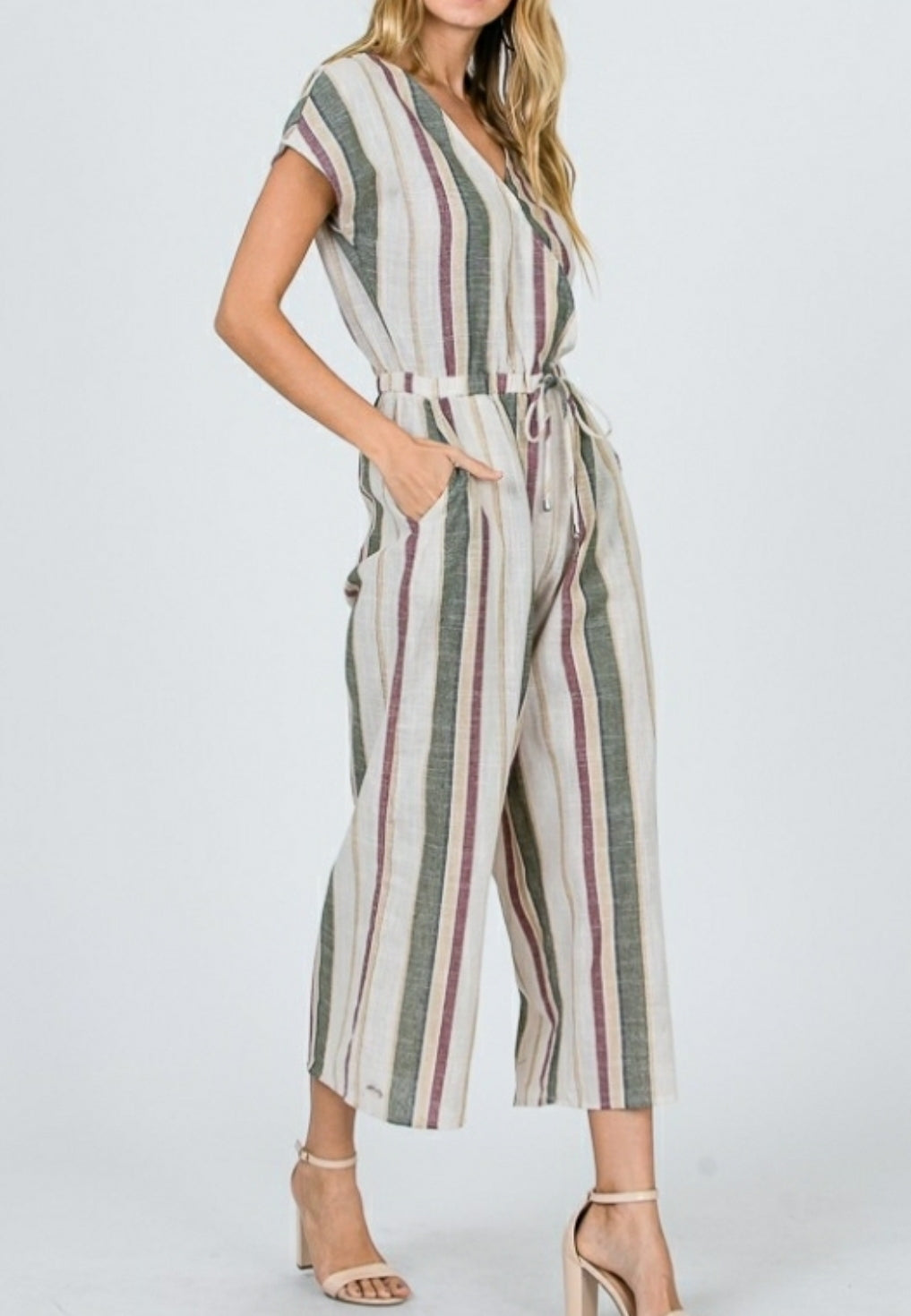 Classic stripes jumpsuit