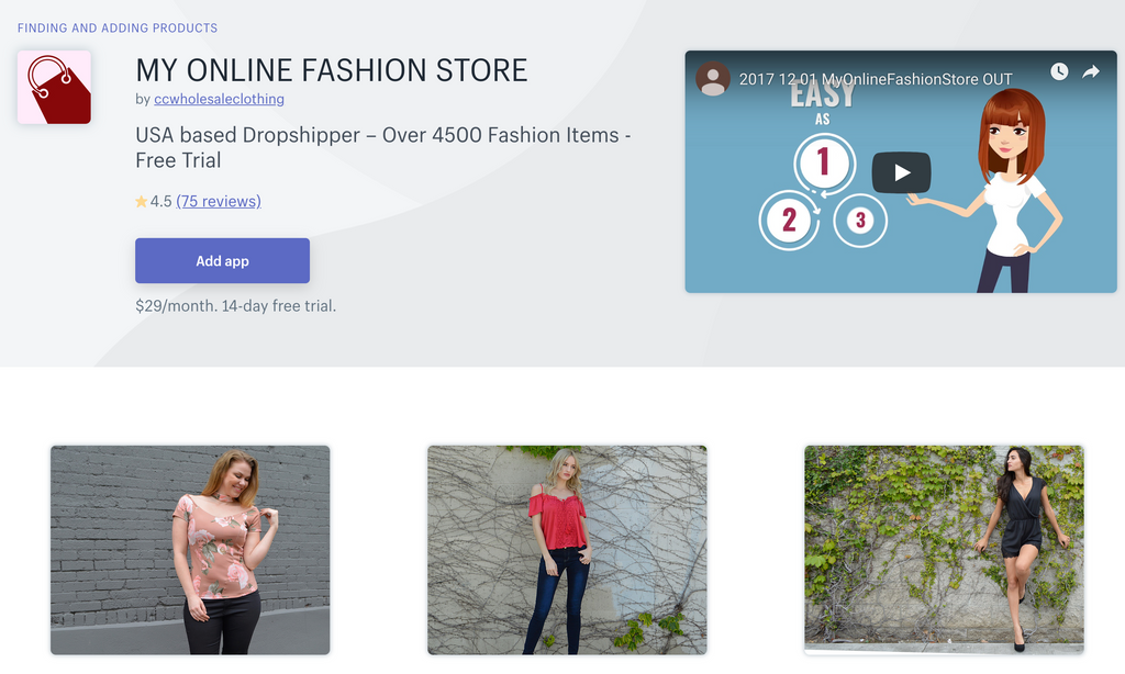 dropship suppliers for online boutique
