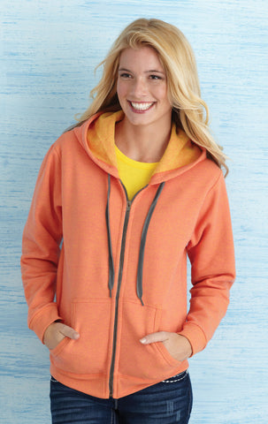 Gildan Heavy Blend Vintage Classic Ladies' Full Zip Hooded Sweatshirt
