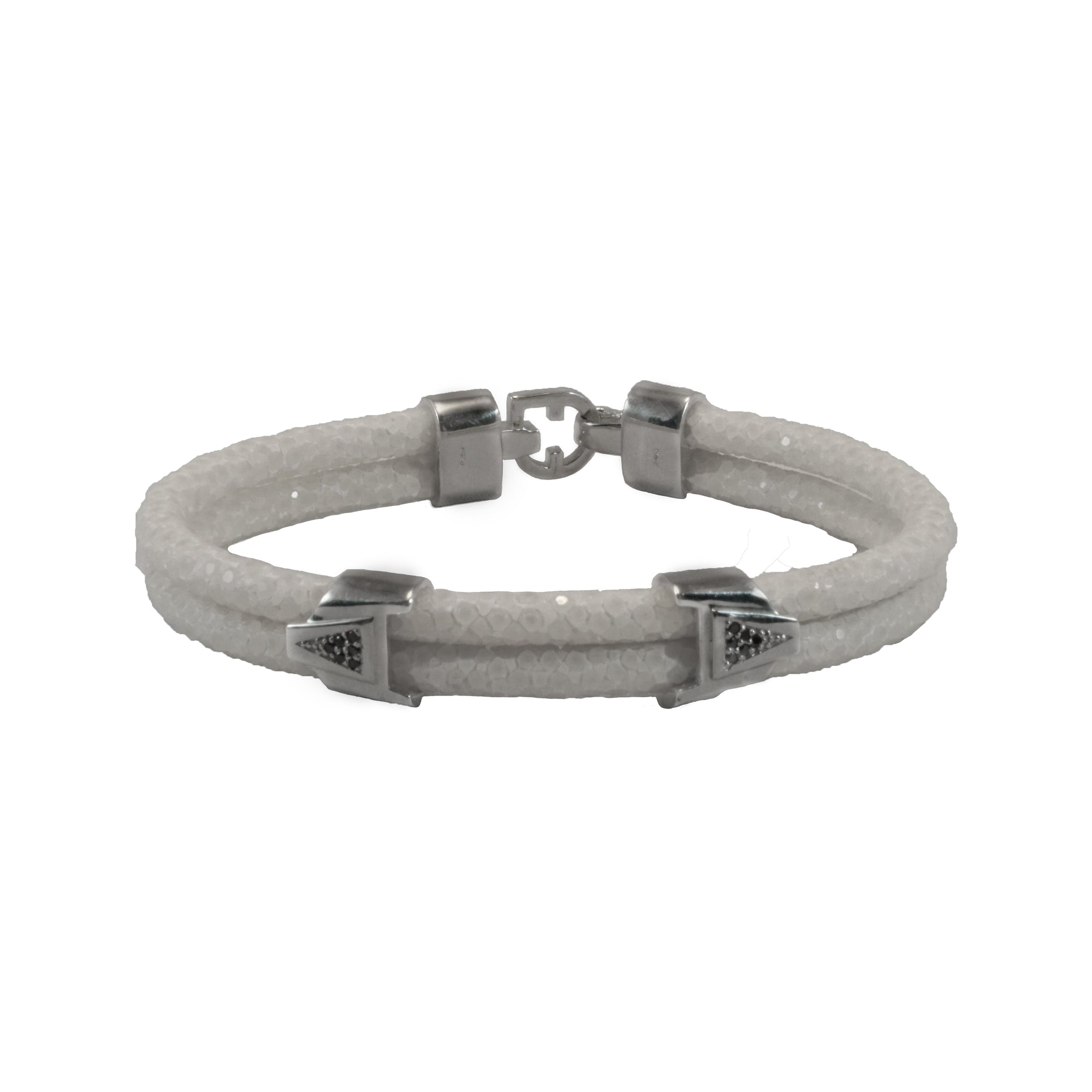 index silver bracelet gunmetal arrow