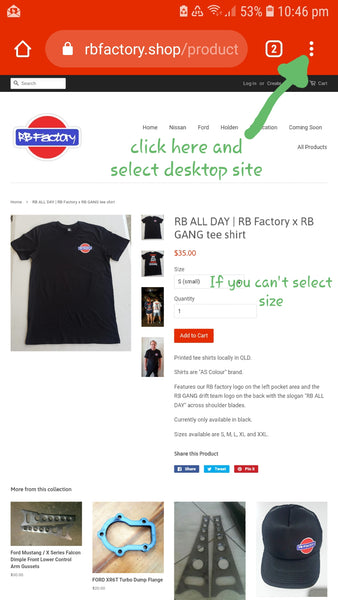 RB ALL DAY | RB Factory x RB GANG tee shirt