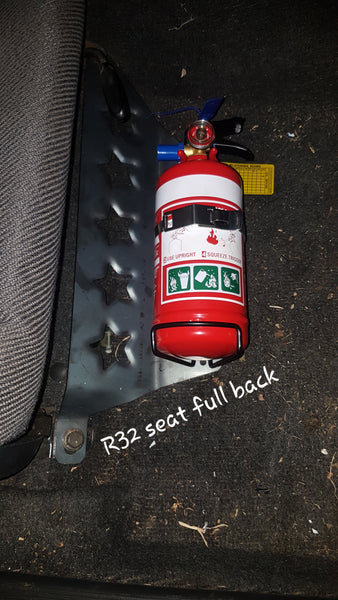 R32 R33 Star dimple fire extinguisher mount - Drivers side