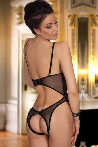 Open Cup Crotchless One-piece Teddy
