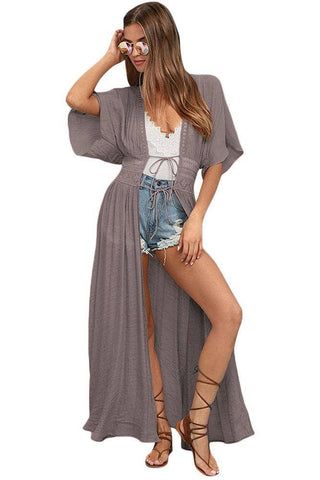 Sexy Gulf Coast Kimono in Taupe by Victory Roze