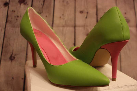 Tiffany Green & Pink Heel