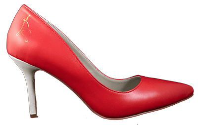 Carla Crimson and Cream Elephant Heel