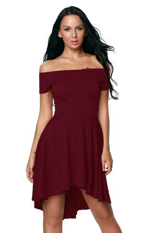 Burgundy All The Rage Skater Dress by Victory Roze