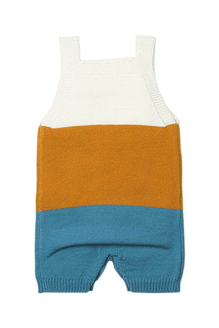 Mustard Blue Sailing Knitted Toddler Onesies