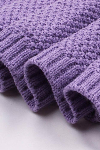 Purple Quality Cotton Knitted Baby Blankets