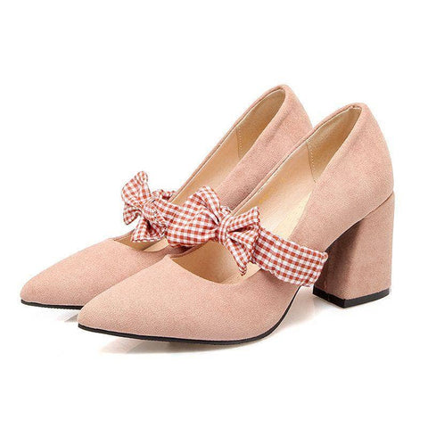 Women's Sweet Bow Shallow Heels by Victory Roze