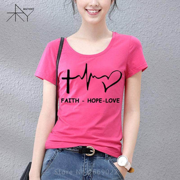 Faith Hope Love Christian Women's T-Shirt