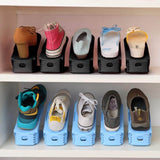 6Pcs Easy Adjustable Easy Storage Adjustable Plastic Shoe Rack Holder Organizer Space Saver