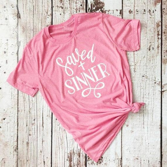 Saved Sinner Christian T-Shirt
