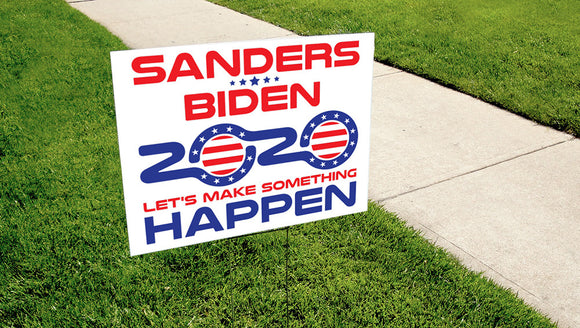 Sanders-Biden 2020 Yard Sign