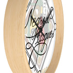 Negrow League Caligraphy Wall clock