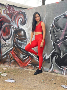 Reflect Leggings - Scarlet Red - Lift Up Clothing LLC