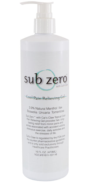 Sub Zero Cool Pain Relieving Gel, 16 oz. with Pump