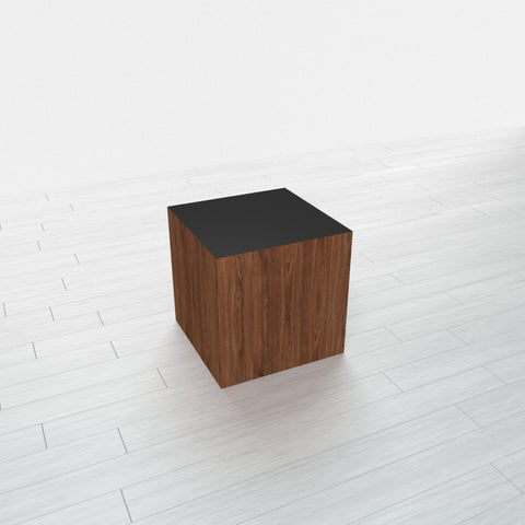 RECTANGLE - Thermo Walnut Base + Black Top - 11.5x11.5