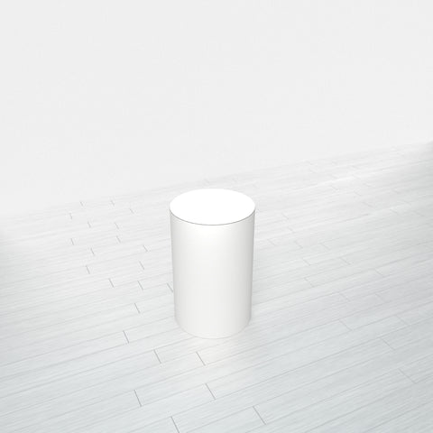CYLINDRICAL - White Base + White Top - 11.5x11.5