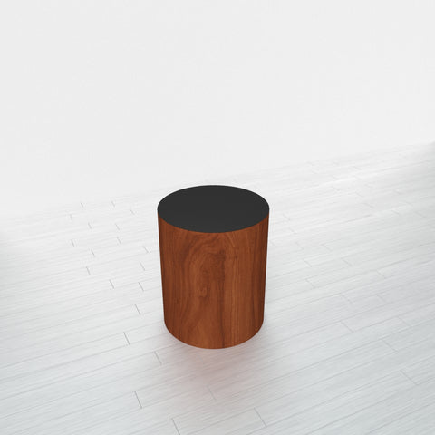 CYLINDRICAL - Cherry Heartwood Base + Black Top - 15x15