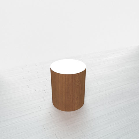 CYLINDRICAL - Cognac Maple Base + White Top - 15x15