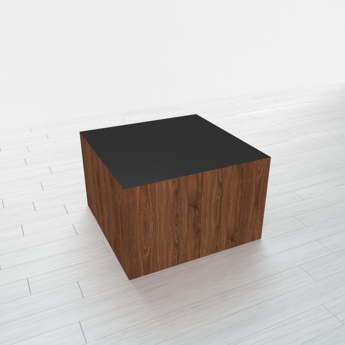 RECTANGLE - Thermo Walnut Base + Black Top - 18x18