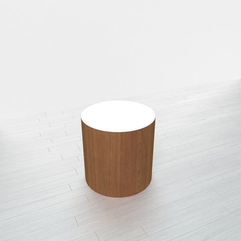 CYLINDRICAL - Cognac Maple Base + White Top - 18x18