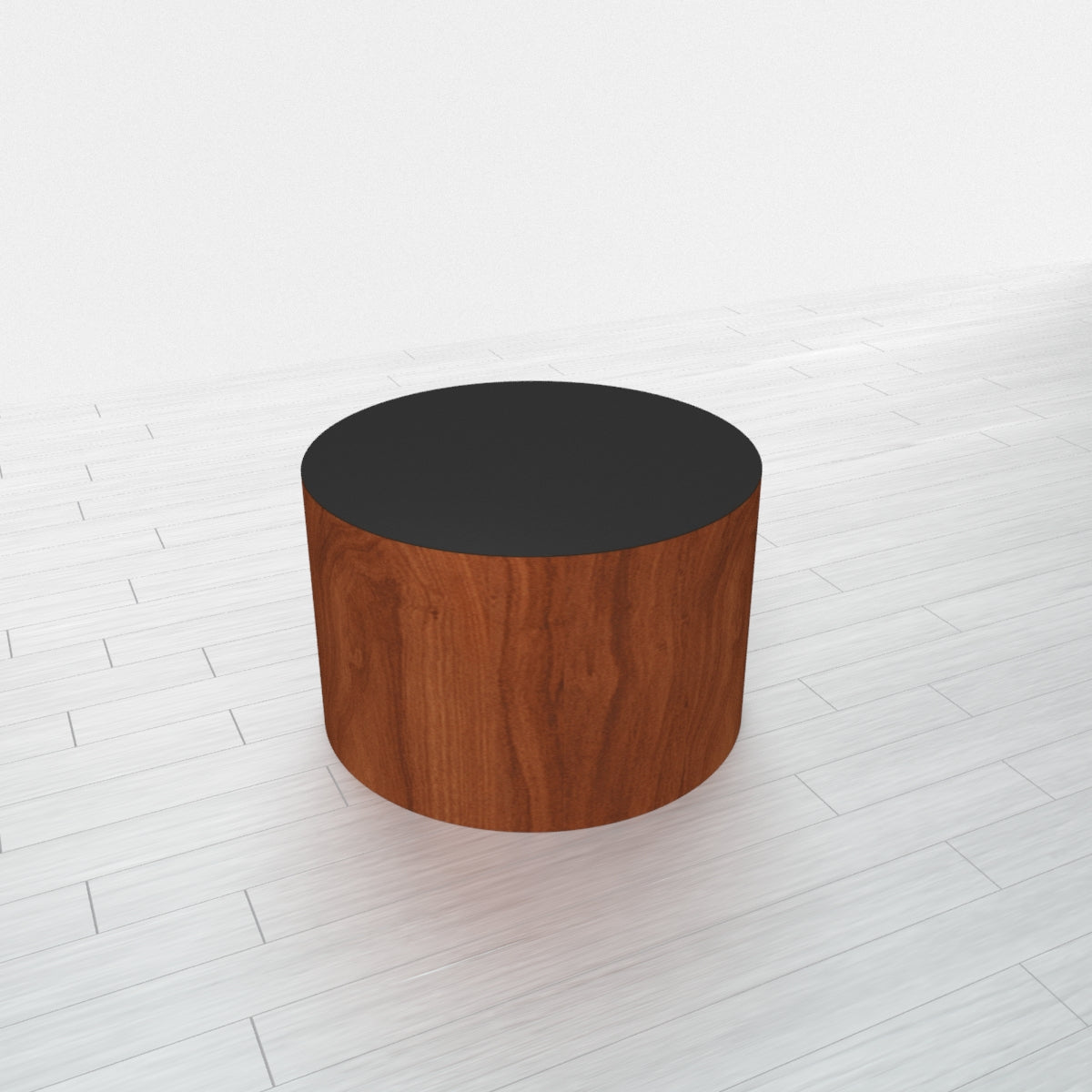 CYLINDRICAL - Cherry Heartwood Base + Black Top - 18x18