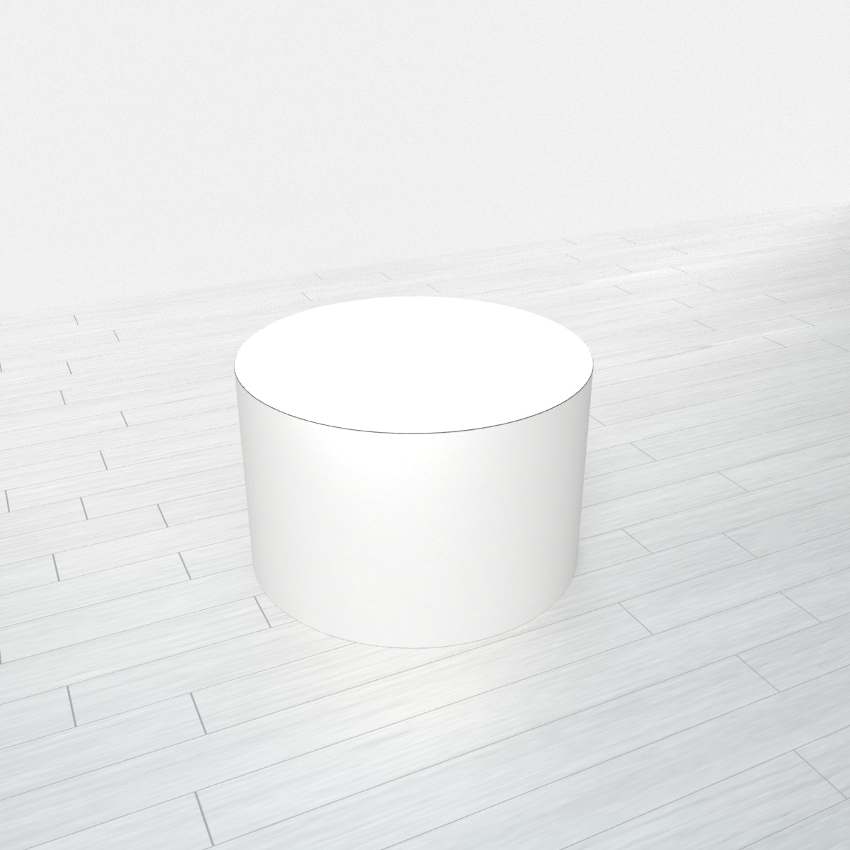 CYLINDRICAL - White Base + White Top - 18x18