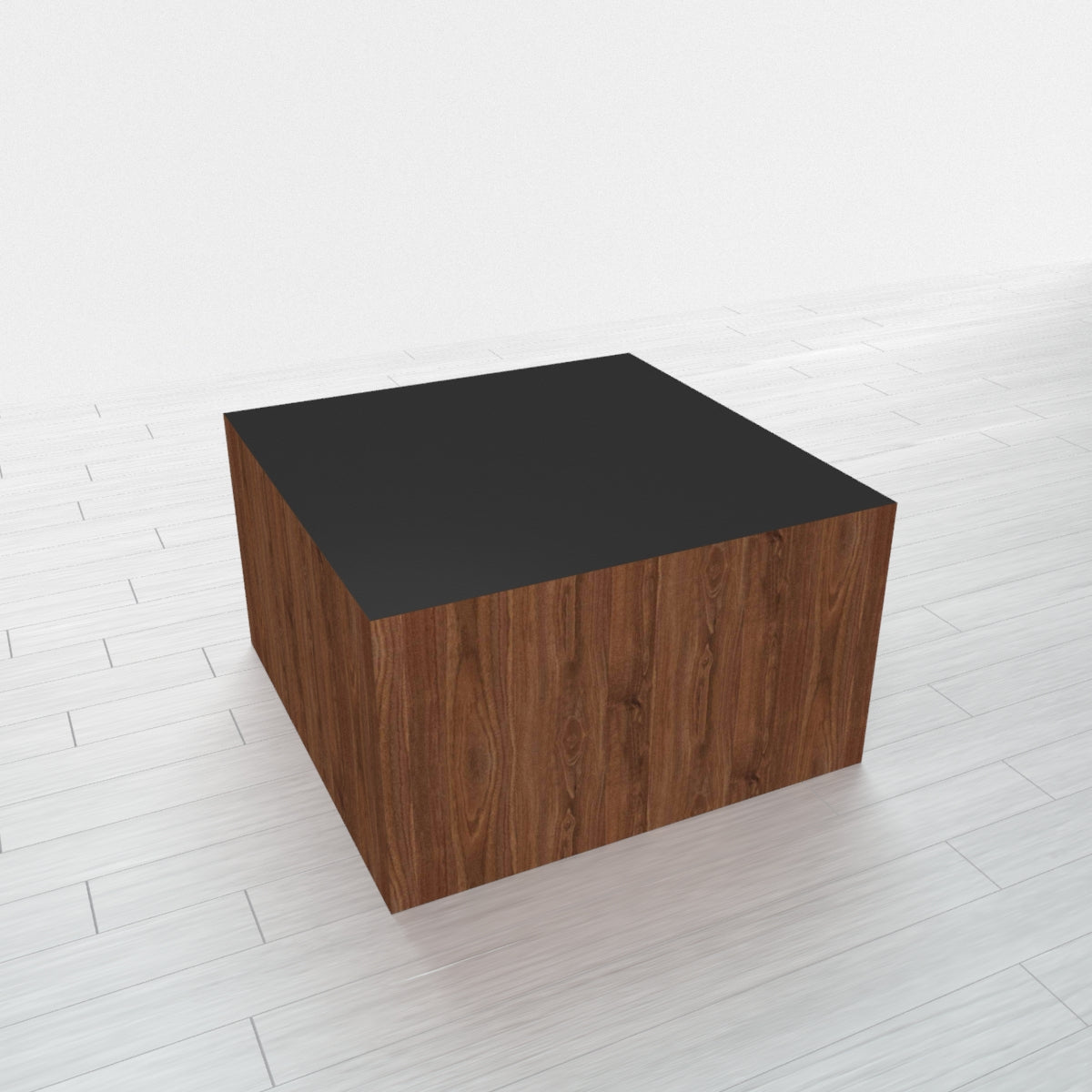 RECTANGLE - Thermo Walnut Base + Black Top - 20x20