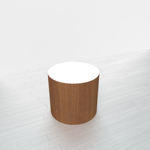 CYLINDRICAL - Cognac Maple Base + White Top - 20x20