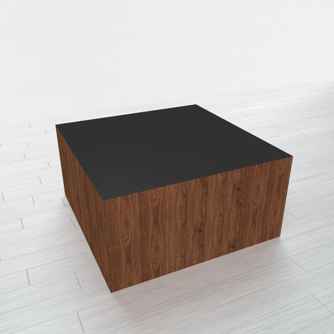 RECTANGLE - Thermo Walnut Base + Black Top - 23x23