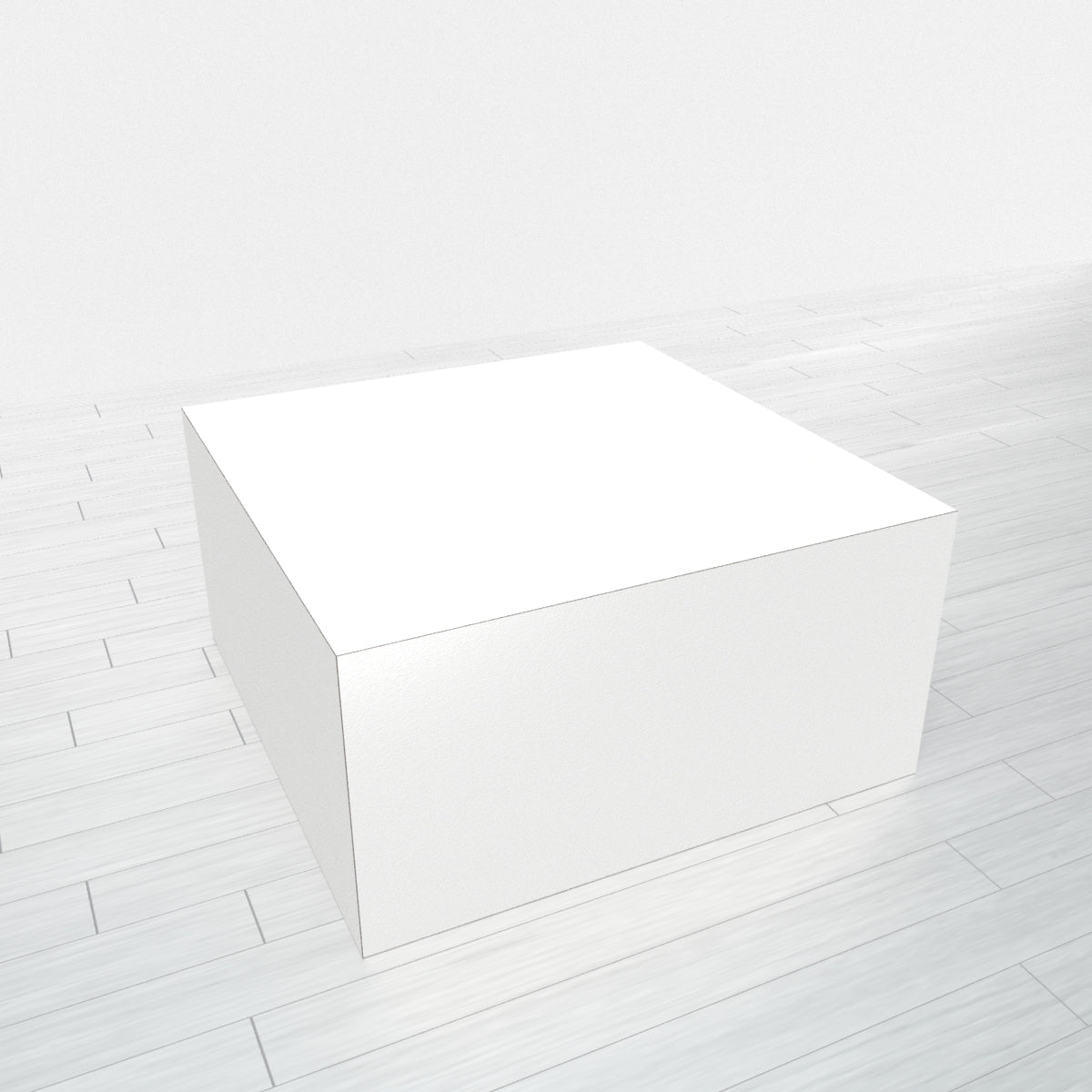RECTANGLE - White Base + White Top - 23x23
