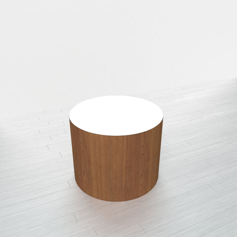 CYLINDRICAL - Cognac Maple Base + White Top - 23x23