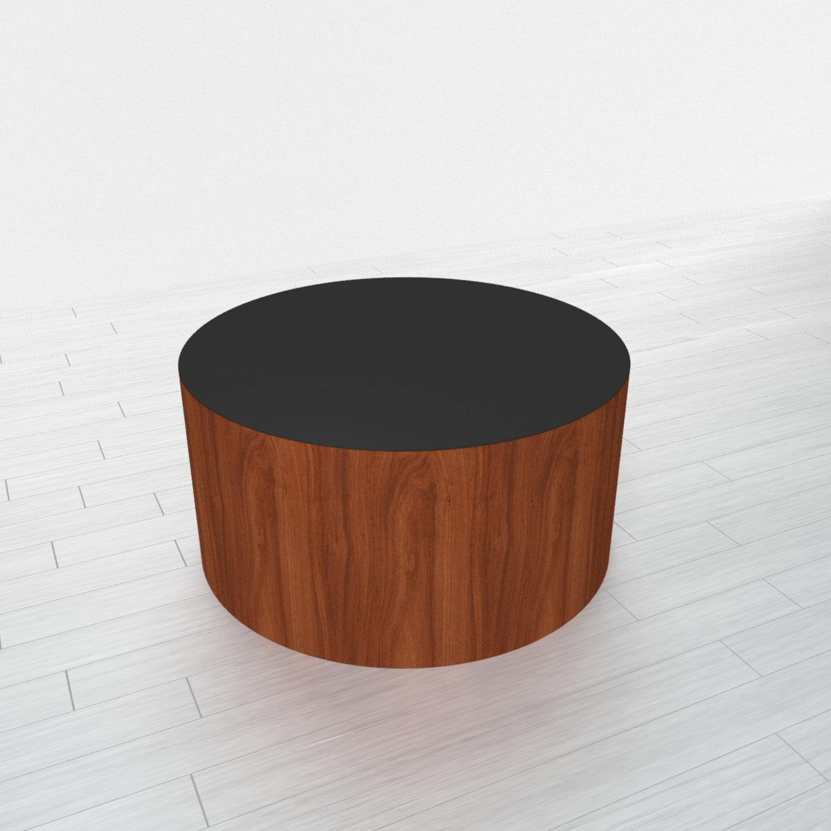 CYLINDRICAL - Cherry Heartwood Base + Black Top - 23x23