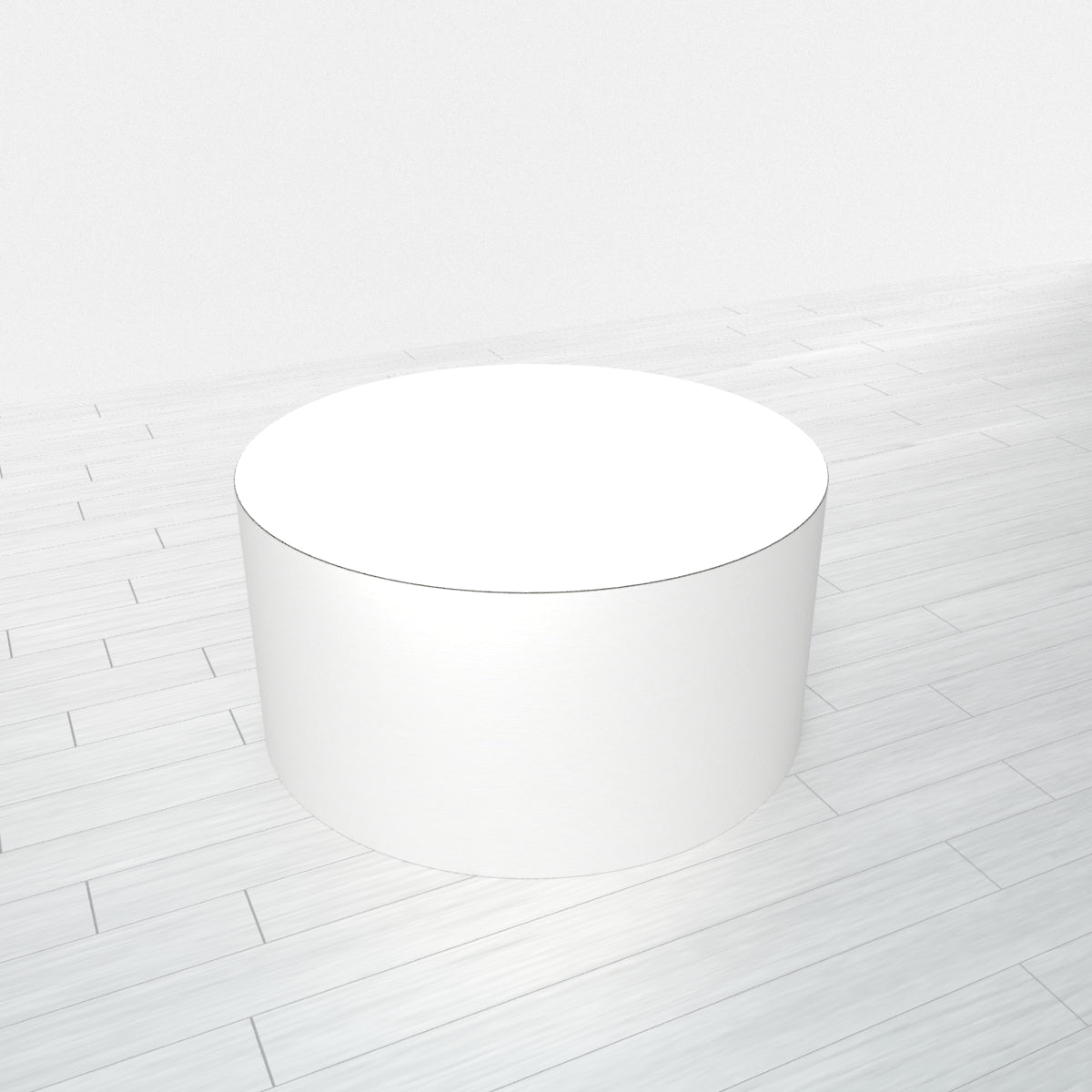 CYLINDRICAL - White Base + White Top - 23x23