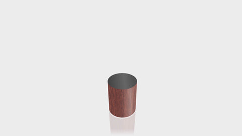 CYLINDRICAL - Acajou Mahogany Base + Black Top