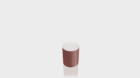 CYLINDRICAL - Acajou Mahogany Base + Brushed Aluminum Top