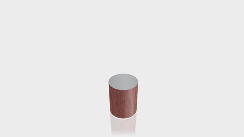 CYLINDRICAL - Acajou Mahogany Base + Mouse Grey Top