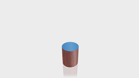 CYLINDRICAL - Acajou Mahogany Base + Spectrum Blue Top