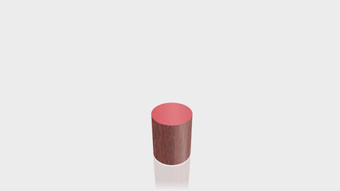 CYLINDRICAL - Acajou Mahogany Base + Spectrum Red Top