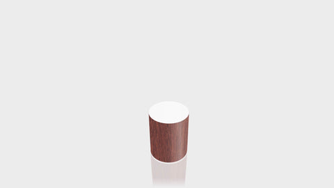 CYLINDRICAL - Acajou Mahogany Base + White Top