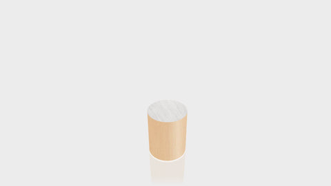 CYLINDRICAL - Amber Maple Base + Brushed Aluminum Top