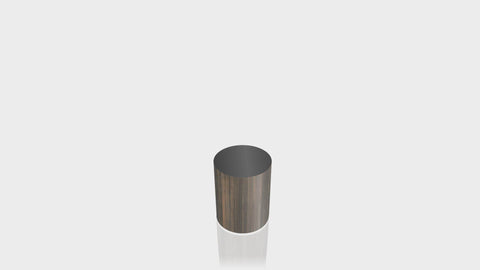 CYLINDRICAL - Bronzed Steel Base + Black Top